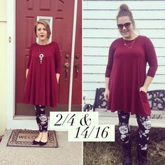 These Agnes & Dora Swing Tunic and leggings are simply amazing on any size! LOVE!