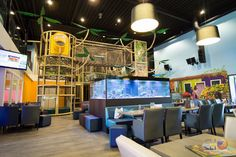 Nice view of the main play structure at Hof van Eckberge indoor playground