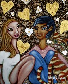 """#Saatchi Artist Cherie Roe Dirksen; Painting, """"Sweet Like Chocolate"""" for $225.00 #art #valentinesday #giftideas"""