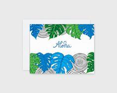 Aloha Monstera Card – Nico Made