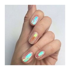 Get an iridescent manicure with holographic nails