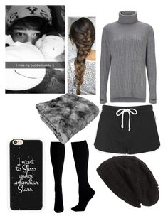 """""""Cuddling with Calum"""" by analis-briseno on Polyvore featuring Sweaty Betty, Topshop, Casetify, David & Young and Hue"""