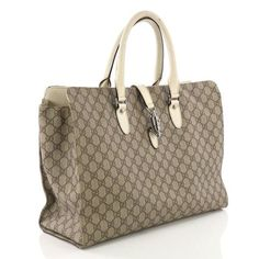 bb5d756bfcc3 Buy Gucci Jackie Soft Tote GG Coated Canvas Large Brown 380411 – Rebag Buy  Gucci,