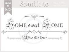 Vintage Schablone * HOME 2 * French Shabby Look von Basket & Pillow auf DaWanda.com