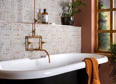 Ten Important Bathroom Refurbishment Tips, industrial style bathroom tiles, walls and floors, affiliate partner Flat Marbles, Mid Century Modern Bathroom, Basin Vanity Unit, Bath Panel, Wall Hung Toilet, Retro Bathrooms, Mirror Cabinets, Bathroom Doors, Wet Rooms