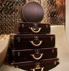 Louis Vuitton Yes please I'll take the whole set including the train case not shown.