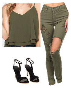 """Untitled #195"" by layyyyyyyy ❤ liked on Polyvore featuring Glamorous, women's clothing, women's fashion, women, female, woman, misses and juniors"