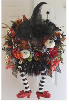 witchy doot wreath - Halloween witch fall decorating