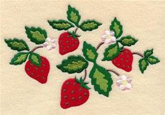 Machine Embroidery Designs at Embroidery Library! - Strawberries