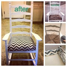 How to Re-Do a Rocking Chair. this is what we should have done to our old rocking chairs. We just went out and purchased new ones. How crazy we were .