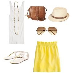 """""""Summer Yellow"""" by southernbelle on Polyvore"""