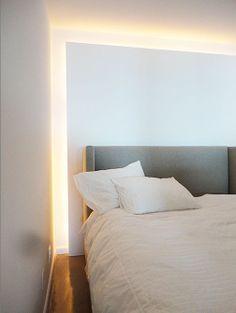 Indirektes Licht Hinter Bett