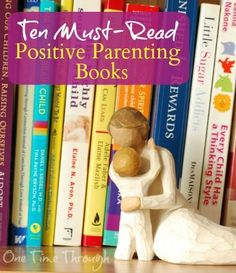 Find kernels of wisdom from the 10 best MUST-READ positive parenting books available today! Including tips from Alfie Kohn, Adele Faber and Elaine Mazlish, Judy Arnall, Pam Leo, Lawrence J. Cohen, Alyson Schaefer, Daniel Siegel and Gary Chapman {One Time Through} #parenting
