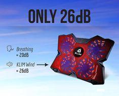 KLIM Wind Laptop-PC Kühler – Leistungsstark wie kein anderer – Schneller Kühlvorgang - 4 Lüfter Belüfteter Notebookständer Gamer Gaming Stützhalterung ( Rot )  EUR 24,90
