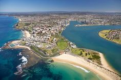 Australia, my dream vacation.    Nobbys Beach and Newcastle Harbour, Newcastle, New South Wales, Australia.