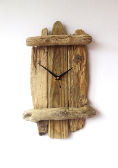 Driftwood Clock  Wall Beach Clock  Recycled Wood  by NaturalClocks
