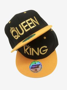 TWO SnapBacks for the price OF ONE! King   Queen summer caps 91c6ca505a7e