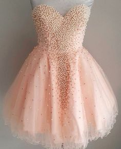 Pretty Homecoming Dresses,Beading Homecoming Dress,Girly Short Prom Dresses