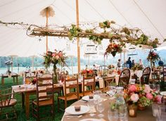 We See: Banquet Tables on Borrowed & Blue.  Photo Credit: Jen Fariello Photography