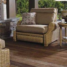 Sunnyland Patio Furniture Leeward Wicker Cuddle Chair by