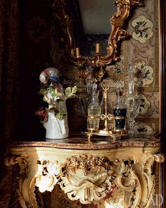 Luvranzh - the Belgian estate of Prince Marescotti Ruspoli and his wife Decius. (Need one of these double decanter racks for the library & kitchen.)
