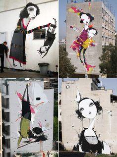 Athens, Greece - street art by Alexandros Vasmoulakis