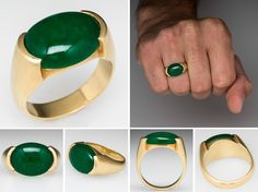 Jade Jewelry, Silver Jewelry, Blue Rings, Gold Rings, Engagement Rings For Men, Jade Ring, Mens Silver Rings, Gold Band Ring, Green Agate