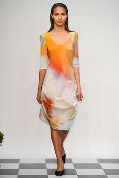 This is a dress from Yeohlee Spring 2013 RTW. I am falling in love with the color. Simple yet beautiful.