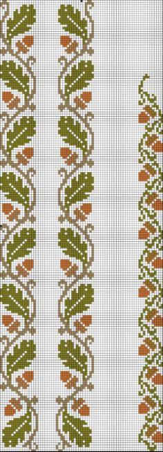 oak leaf and acorn borders