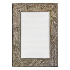 Parquet Framed Mirror – Distressed