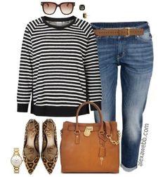 Plus Size Boyfriend Jeans Outfit - Plus Size Fashion for Women - Alexa Webb - alexawebb.com - Plus Size Casual Outfit