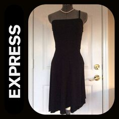 Express Express Yourself Black Party Dress