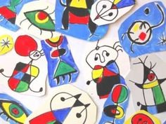 I thought of a way to create a three-dimensional structure with the characteristic drawings by Joan Miro, which are specifically two-dimensional. Students have copied some drawings by Miró with a b… 4th Grade Art, Spanish Art, School Art Projects, Art Lessons Elementary, Elements Of Art, Art Classroom, Art Club, Matisse, Art Plastique