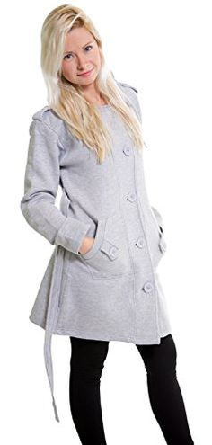 Eskaay Womens Check Hood Warm Fleece Belted Button Hooded Jacket Coat Grey XL. Brand New Finest Fashionable and Lavishness Long Sleeve Hooded Coat With Pockets, Belt & Button Fasteners. Warm Fleece Lined Jacket Coat, Ideal for Casual & Formal Wear. Knitted fleece cloth 50% cotton / 50% polyester. Soft and Warm Material, a slimmer and closer Fit Hooded Coat. Quality Cuts, Forms and Colors Combined with Fine Fabrics in Highest Workmanship, Features a Customized Body shape.