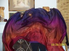 Sahariah's Silk Belly Dance Veil Rectangle by SilksbySahariah, $45.00