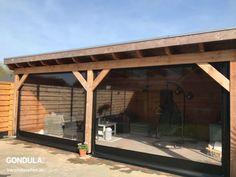 Foto's | Gondula - Verandazeilen op maat! Outdoor Patio Bar, Pergola Patio, Gazebo, Outdoor Living, Backyard Fireplace, Cozy Backyard, Backyard Patio Designs, Retractable Patio Screens, Summer House Garden