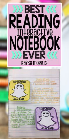 Kayse Morris Reading Interactive Notebook Grades 4-8 https://www.teacherspayteachers.com/Product/Reading-Interactive-Notebook-1318904