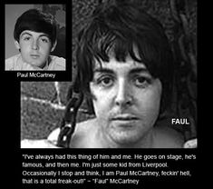 Paul is Dead, 1969 In the Fall of 1969 a rumor swept around the world alleging that Paul McCartney, singer and bassist for the Beatles, was dead. Description from milissaodien.sourceforge.net. I searched for this on bing.com/images