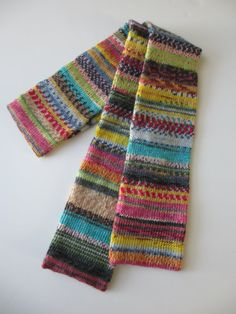 Women's Wool Scarf Opal Hundertwasser Collection by tgknits