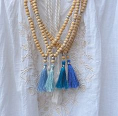 beachcomber yoga by the sea tassel necklace by beachcomberhome, $22.00