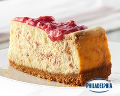 Fresh rhubarb offers a fun twist on your classic cheesecake! This DIY strawberry rhubarb swirl cake is perfect for warm weather days and goes great with a serving of sunshine. Make it for your next get-together with help from some Philly Cream Cheese and your guests are sure to leave smiling.