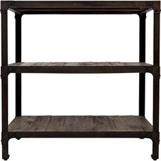 Display leather-bound tomes or framed family photos with this essential bookcase, crafted from reclaimed pine wood and showcasing an open base.