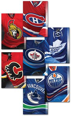 ma. Hockey CANADIAN NHL TEAMS set 7 postage-paid POSTCARDS Sealed Canada 2013 Toronto Maple Leafs, Nhl, Postcards, Hockey, Canada, Stamps, Field Hockey, Stamping, Postage Stamps