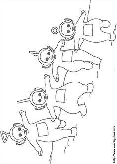 Teletubbies coloring picture