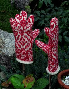 Norwegian Gloves  The Troll is Laughing by Dom Klary by domklary, $45.00