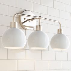 This Young House Love Bubble Vanity Light has mid-century modern features. Update a boring bathroom by removing outdated builder light fixtures and mounting this fun vanity light above an existing cabinet. Available with a Dark Bronze or Nickel backp Modern Vanity Lighting, Contemporary Bathroom Lighting, Bathroom Vanity Lighting, Bathroom Fixtures, Light Bathroom, Bathroom Ideas, Bathroom Wall, Bathroom Gray, Vanity Mirrors