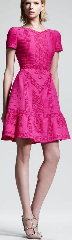 Valentino - Pink Eyelet Dress. I don't care what year this was made...it is a beautiful dress. B.