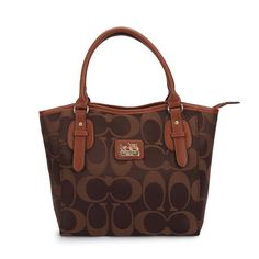 #Coach We Offer Newest Style Fashion Coach Logo In Monogram Small Coffee Totes DCL With Various Colours!