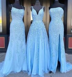 Blue Tulle Lace Customize Long Prom Dress, Evening Dress from Sweetheart Dress Handmade item Materials: Tulle, lace Made to order Color: Refer to image Processing business days Delivery business days Dress code:E Dresses Elegant, Pretty Prom Dresses, Prom Dresses Blue, Cheap Prom Dresses, Prom Party Dresses, Formal Evening Dresses, Ball Dresses, Cute Dresses, Straps Prom Dresses