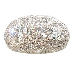 Stunning Edwardian/ Art Deco platinum and diamond ring 1920 #rings